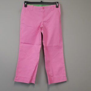 Lilly Pulitzer Pink Main Line Fit  Capri pants
